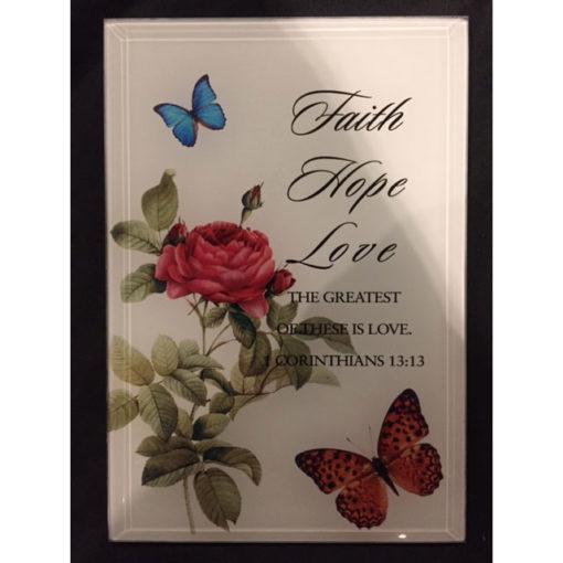 Faith hope love photo frame