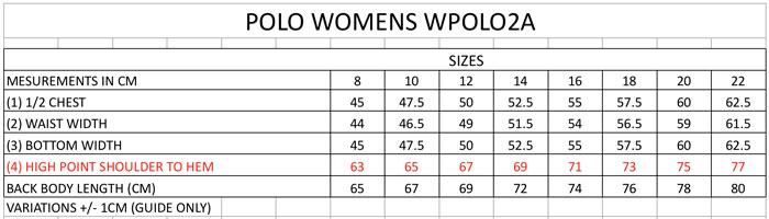 womens polo sizes